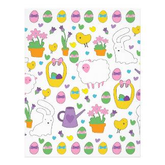 Cute Easter pattern Letterhead