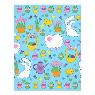 Cute Easter pattern Letterhead Template