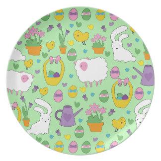 Cute Easter pattern Plate
