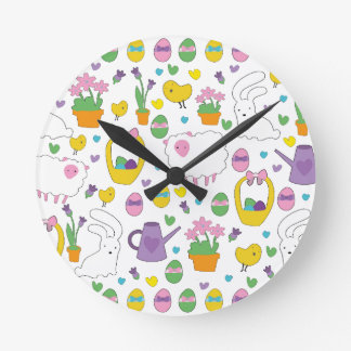 Cute Easter pattern Wall Clock