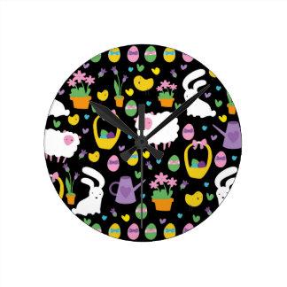 Cute Easter pattern Wallclock