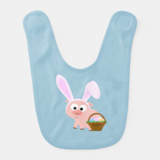 Cute Easter Pig Bib