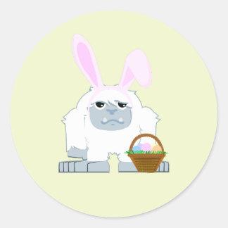 Cute Easter Yeti Classic Round Sticker