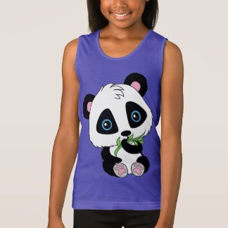 Cute eating bamboo Panda Bear Tank Top