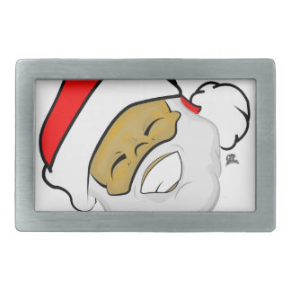 Cute Ebony Santa Smile Christmas Belt Buckles