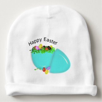 Cute Egg For Happy Easter For Baby Baby Beanie