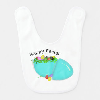 Cute Egg For Happy Easter For Baby Bibs
