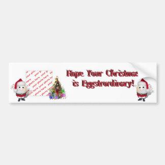 Cute Egg  Santa Claus Photo Frame Bumper Sticker
