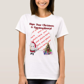 Cute Egg  Santa Claus Photo Frame T-Shirt