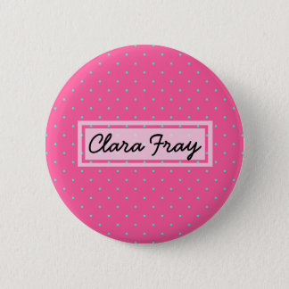 cute elegant baby pink mint polka dots pattern 2 inch round button
