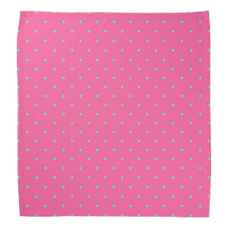 cute elegant baby pink mint polka dots pattern bandana