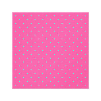 cute elegant baby pink mint polka dots pattern canvas print