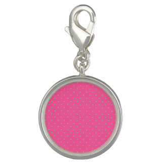cute elegant baby pink mint polka dots pattern charm