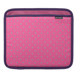 cute elegant baby pink mint polka dots pattern iPad sleeve