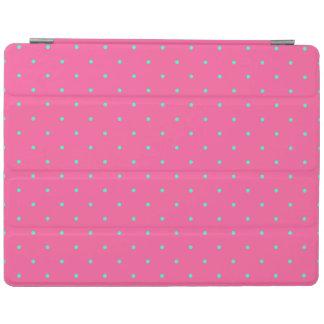 cute elegant baby pink mint polka dots pattern iPad smart cover