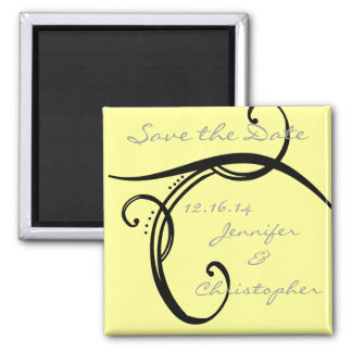 CUTE Elegant Classic Save The Date Magnet