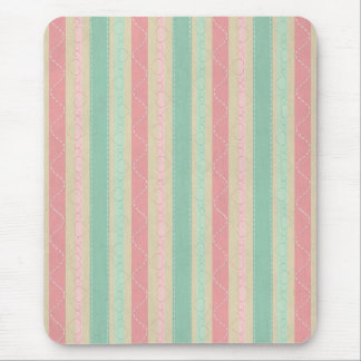 Cute elegant girly trendy vintage stripes pattern mouse pad