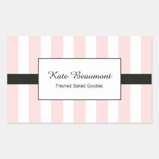 Cute Elegant Pink and White Stripes Sticker