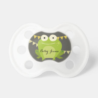 CUTE ELEGANT YELLOW BLUE FROG BALLOON CELEBRATION PACIFIER
