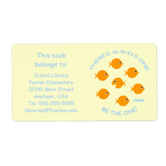Cute Elementary School Library Book Labels