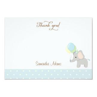 Cute Elephant Baby Shower Thank You Card