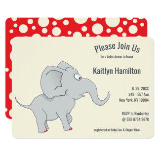 Cute Elephant   Baby Shower To Honor the  New Mom Card