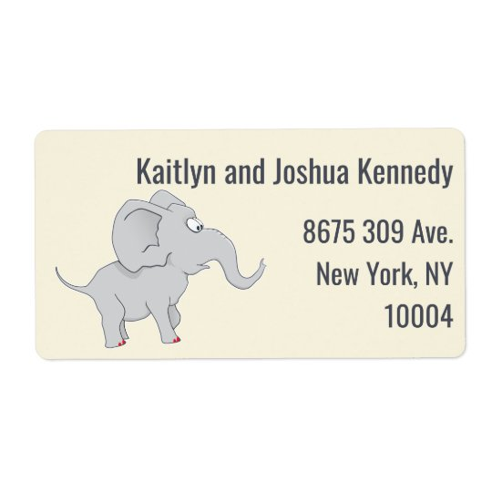 Cute Elephant | Baby Shower To Honour the New Mom Shipping Label