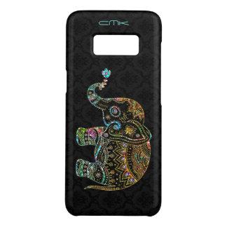Cute Elephant Black & Colorful Glitter & Diamonds Case-Mate Samsung Galaxy S8 Case