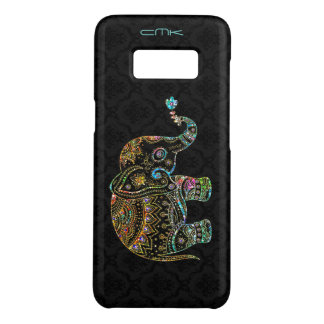 Cute Elephant Black & Colorful Grittier Case-Mate Samsung Galaxy S8 Case