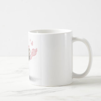 cute elephant blowing pink bubbles coffee mug