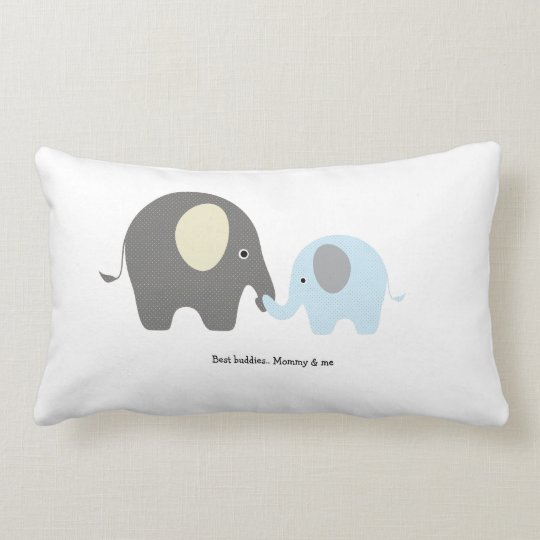 Cute elephant boy pillow