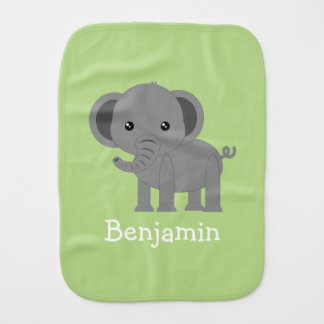 Cute Elephant Burp Cloth