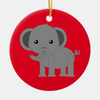 Cute Elephant Ceramic Ornament