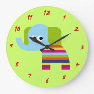 Cute Elephant Clock for Nursery or Kids Room