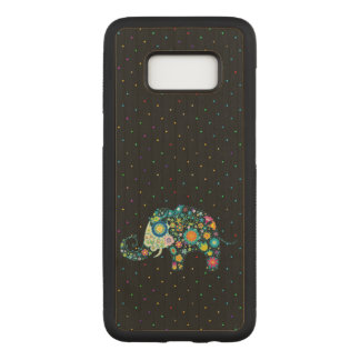 Cute Elephant & Colorful Dots Pattern Carved Samsung Galaxy S8 Case