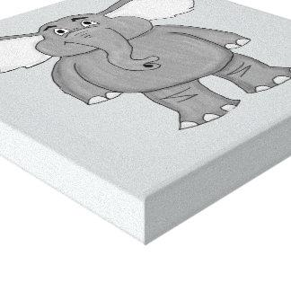 Cute elephant design stationery set canvas print