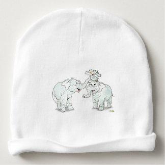 cute elephant family cartoon baby shower baby beanie