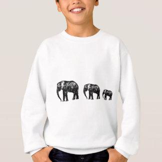 Cute Elephant Family silhouette design Sweatshirt