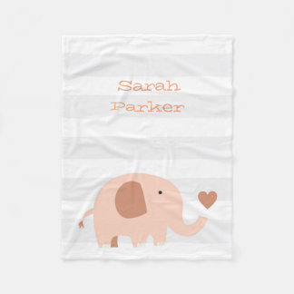 Cute Elephant Fleece Blanket