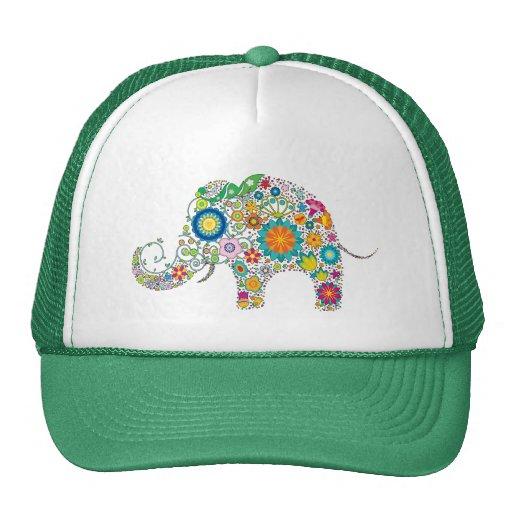 Cute Elephant Floral Pattern - Customizable! Trucker Hat