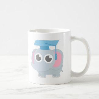 Cute Elephant Kids Kindergarten Graduation Basic White Mug
