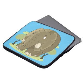 Cute elephant laptop sleeve