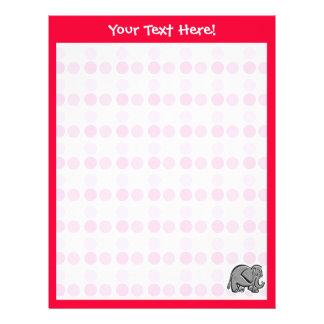 Cute Elephant Letterhead Template