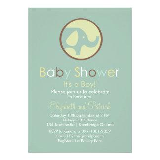 Cute Elephant Logo Baby Shower Invitation