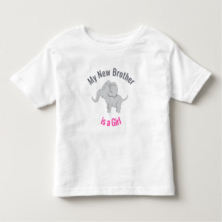 Cute Elephant | New Brother is a Girl Toddler T-shirt