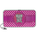 Cute elephant pink flowers travelling speaker