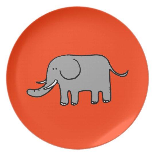 Cute elephant plate