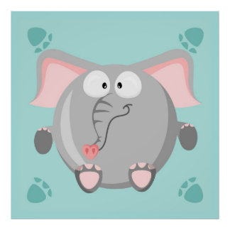 Cute Elephant Poster