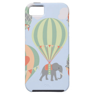 Cute Elephant Riding Hot Air Balloons Rising Case For The iPhone 5