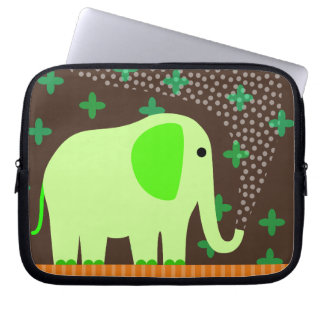 Cute Elephant Spraying Water Laptop Sleeve